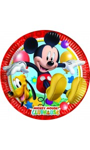 Lot de 8 assiettes jetables en carton Mickey 23 cm