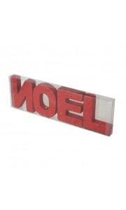 Lot de lettres NOEL rouges 10 cm x 32cm