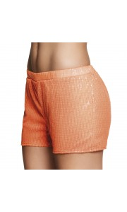 Mini short  sequins orange fluo taille M