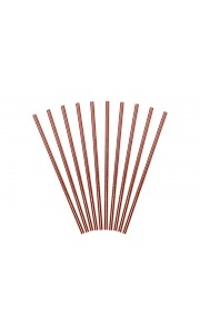 Lot de 10 pailles carton rose gold