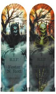 Panneau à prisme pierre tombale Halloween 94 cm x 29 cm