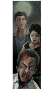 Panneau à prisme Zombie Halloween 94 cm x 29, 2 cm