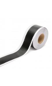 Rouleau de Ruban adhésif noir écriture craie bords arrondis 3,8 cm x 9 m