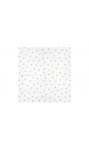 Lot de 20 serviettes en papier blanc cœurs or 33 x 33 cm