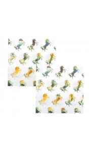 Lot de 12 serviettes en papier Licorne 33 x 33 cm