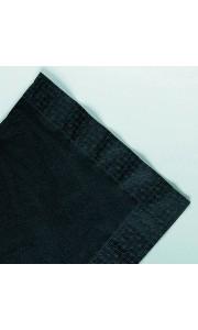Serviettes noire en papier ouate 2 plis 25x25 cm AVA