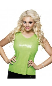 Top sequins vert lime Taille M