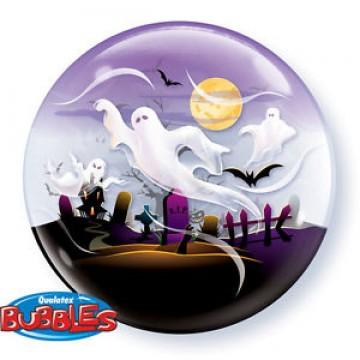 Ballon Fantômes Bubble halloween transparent
