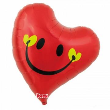 Ballon sourire Coquin/baiser 45 cm