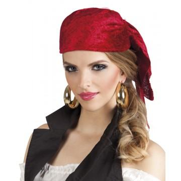 Bandana coque pirate Rowan rouge