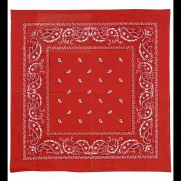 Bandana rouge 55 x 55 cm