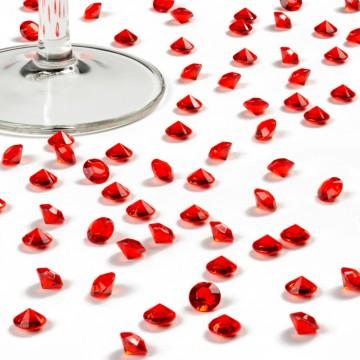 Boîte de 500 diamants rouges 8 mm