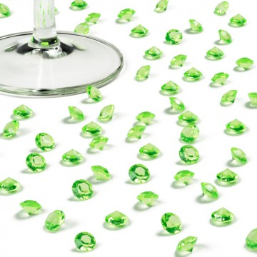 Boîte de 500 diamants verts 8 mm