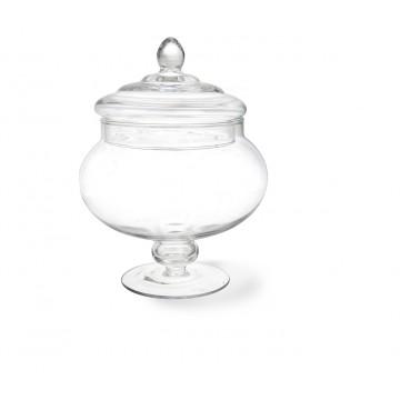 Bonbonnière confiseur verre sur pied 17 x 24,5 cm