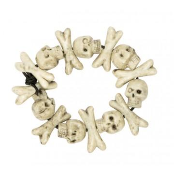 Bracelet crânes et os