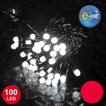 Guirlande 100 leds 8 mm rouges 8 fonctions 10 m