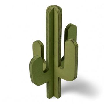 Cactus vert en bois à assembler 18 x 10,5 cm