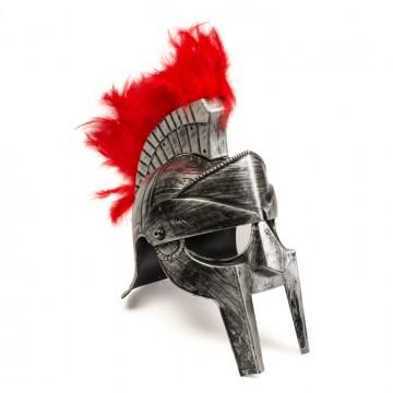 Casque de gladiateur argenté
