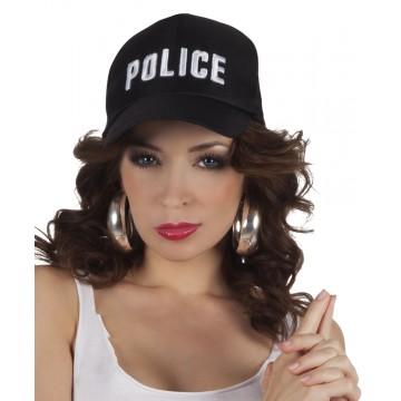 Casquette de police ajustable