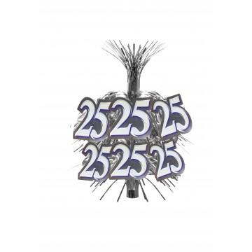 Centre de table 25 ans Argent 45,7 cm