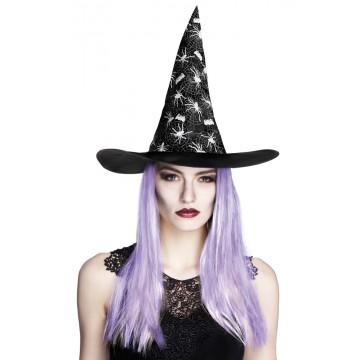Chapeau de sorcière Aranya avec cheveux Halloween