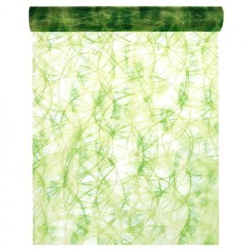 Chemin de table Camaieu vert 30 cm x 2 m