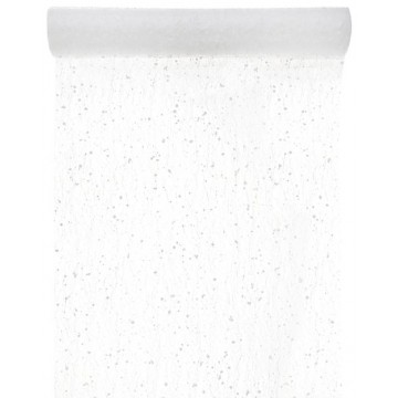 Chemin de table Neige blanc 30 cm x 5 m