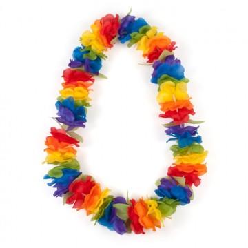 Collier hawaien multicolore