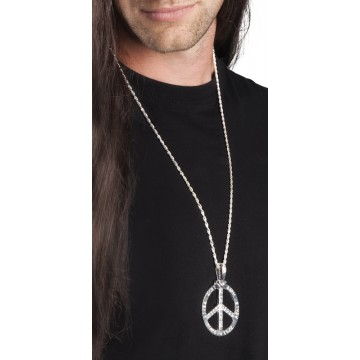 Collier Peace metal argenté