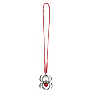 Collier rubis forme araignée