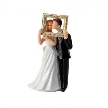 Couple de Mariés cadre en résine