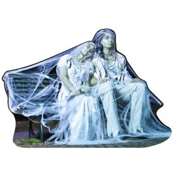 Décoration en carton mariés Zombies halloween