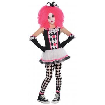 Déguisement clown Halloween adolescente