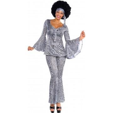 Déguisement Disco femme noir