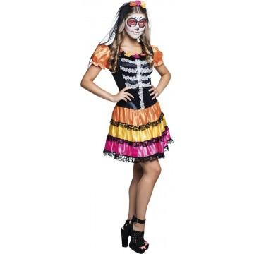 Déguisement Nina Pelona day of the dead Halloween adolescente