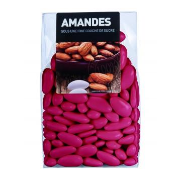 Dragées Amande Longuette Framboise  450 gr