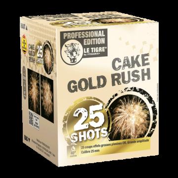 Feu d'artifice Cake gold rush 25 coups