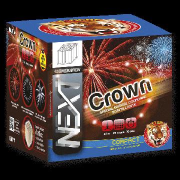 Feu d'artifice compact Crown 25 coups