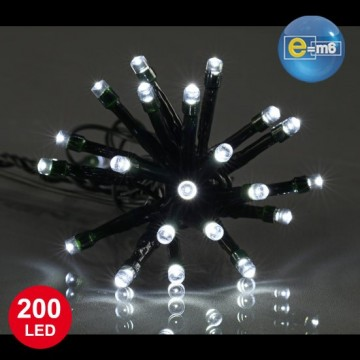Guirlande 100 leds blanches 8 fonctions 8 m