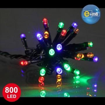 Guirlande 800 leds 5 mm multicolores 8 fonctions 40 m