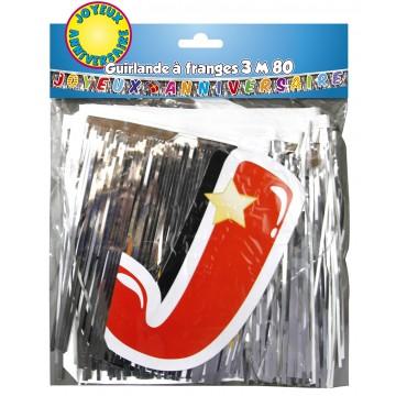 Guirlande à franges Joyeux anniversaire 3,80 m
