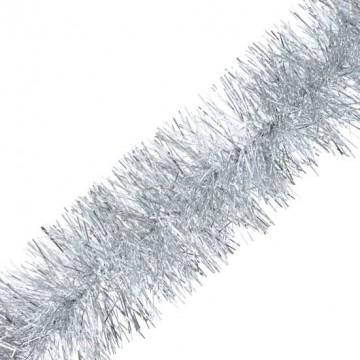 Guirlande argent 6 plis 15 cm x 2 m