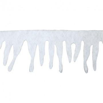 Guirlande Déco Glaçon neige en mousse blanche 2m x 33 cm