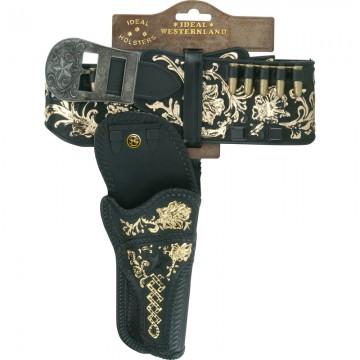 Holster luxe avec ceinture large décorée 90 cm