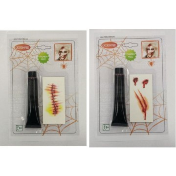 Kit de maquillage tattoo+ sang Halloween