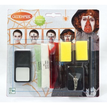 Kit de maquillage Zombie avec fermeture Halloween