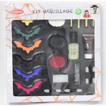 Kit maquillage Chauve-souris Luxe Halloween