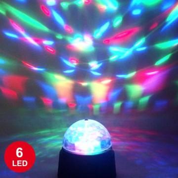 Lampe Disco cristal  6 leds à piles