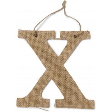 Lettre X en jute 15,5 cm