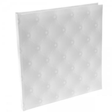Livre d'or Blanc capitonné 24 x 24 cm